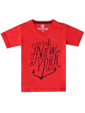 State of Kids Port Of New York T-Shirt - Kırmızı