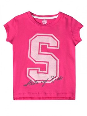 State of Kids S For State T-Shirt - Pembe