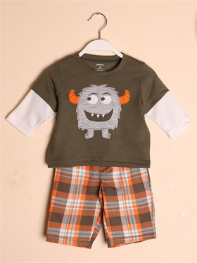 Carters Monsters Pijama Takımı