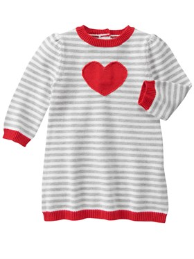 Gymboree Little Heart Triko Elbise