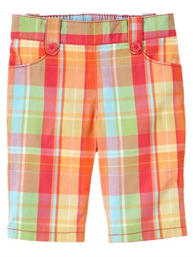 Gymboree Plaid Kapri